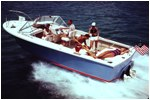 Moppie - Totally open, forward windscreen &  helm